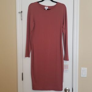 Lularoe Debbie long sleeve dress medium